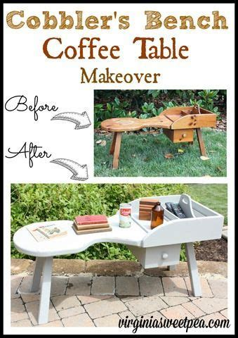 Diy Seating Bench Cobbler S Bench Coffee Table Makeover Bench Woodworking
