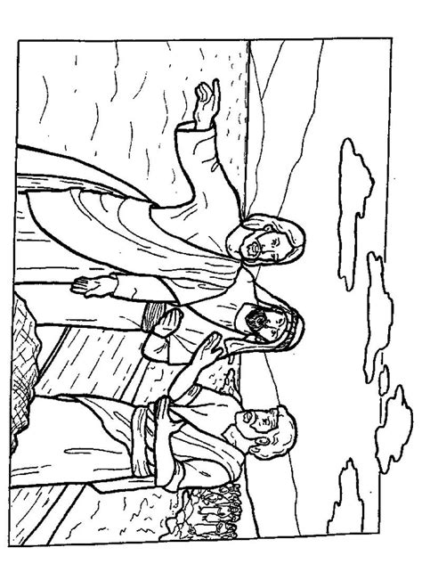 colouring pages jesus and disciples disciples coloring pages coloring home