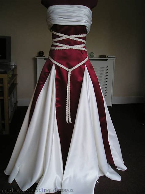 Pagan Style Wedding Dresses by Pagan Wedding Dress Gold Ivory Custom Handfasting
