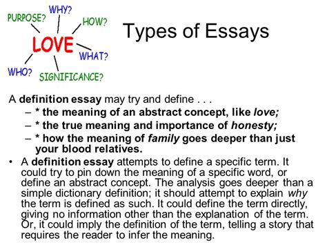 Essay Types Definition definition essay essays graduate admission essay help college in write my earth