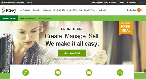 online store themes godaddy the best ecommerce software pcmag com