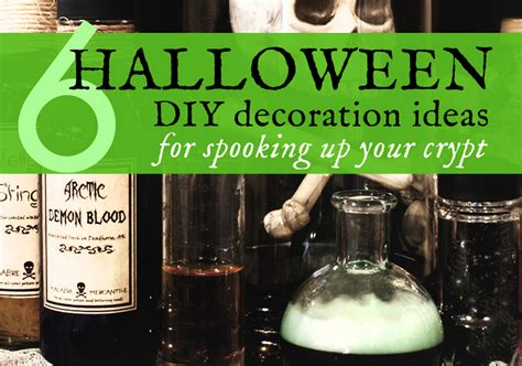 how to make halloween decorations at home 6 diy halloween decorations made with upcycled materials