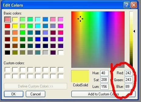 find hex code for any color using ms paint tricks to