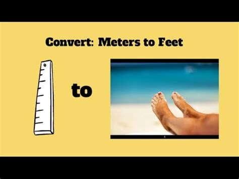 meter to feet convert meters to feet meters to inches youtube