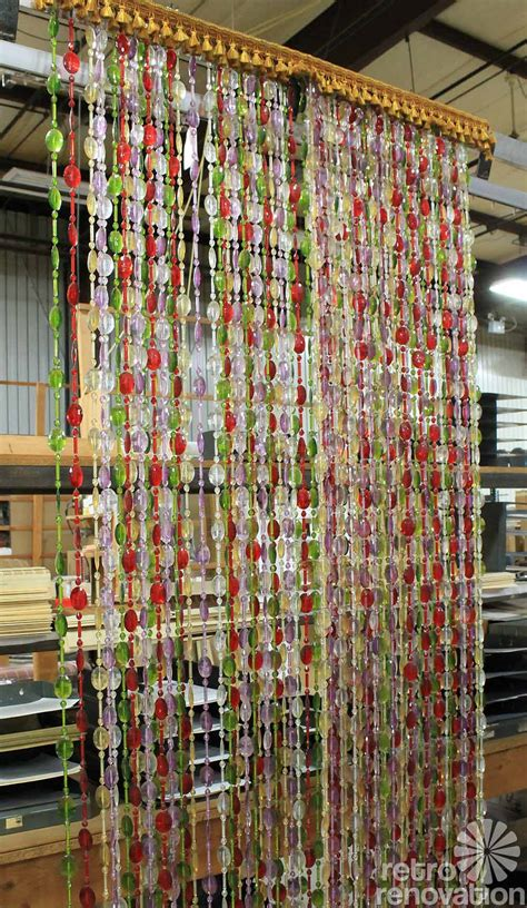 curtain of beads beauti vue beaded curtains made in the usa new old stock