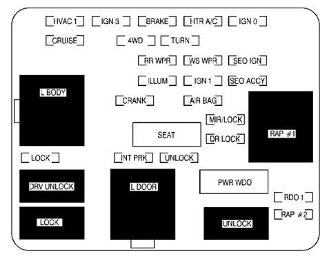 repair windshield wipe control 2001 chevrolet tahoe instrument cluster chevrolet tahoe 2001 fuse box diagram auto genius