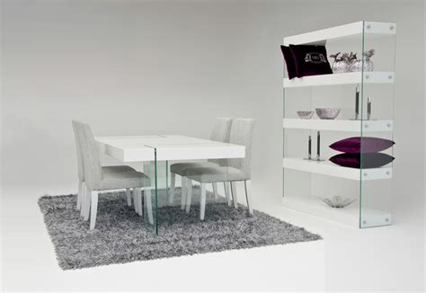modern dining table white aura modern white floating dining table