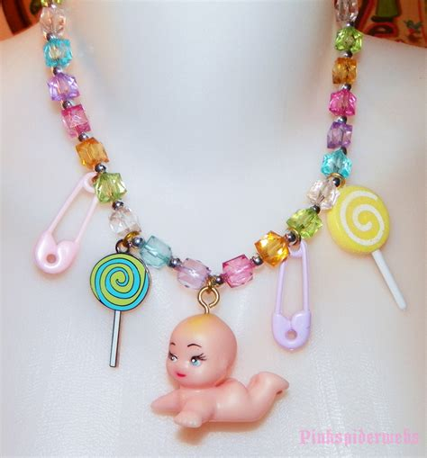 kewpie kawaii pastel kawaii baby kewpie necklace by slypinkspy on deviantart
