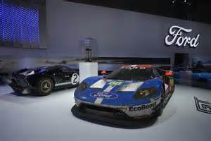 all new ford gt race car makes pit stop in la