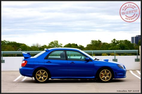 blue subaru gold rims uncompromised daily driver weekend warrior t3h clap s