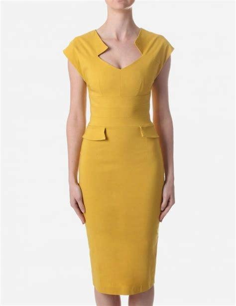 Dress Harvard harvard s midi dress mustard
