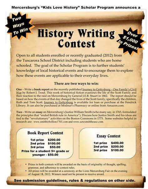 Creative Writing Essay Contest by Creative Writing Contest Flyer
