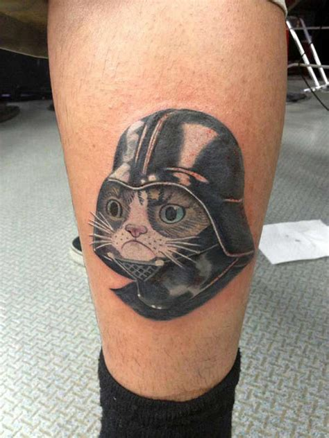 meme tattoo cat meme tattoos darth vader