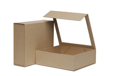 small window box kraft small foldable rigid window box 220mm x 203mm x