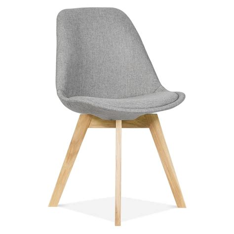 Eames inspired cool grey upholstered dining chair cafe amp restaurant chair