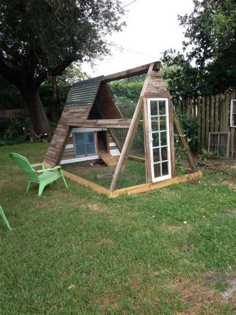 diy repurposed swing set chicken coop  owner builder
