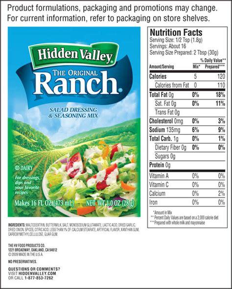 Low Dairy Paket 5 great dressing alternative gluten free mix 1 packet