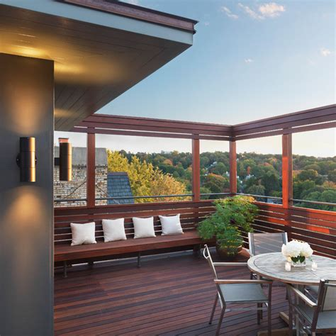 Houzz Homes Floor Plans by Rooftop Oasis Contemporary Deck Boston By Flavin