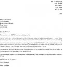 Resignation Letter Family Problem by Letter Of Resignation Due To Reasons Icover Org Uk