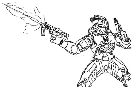 free the alien on halo coloring pages