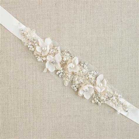 diy flower belt reserved wedding belt bridal belt wedding dress belts