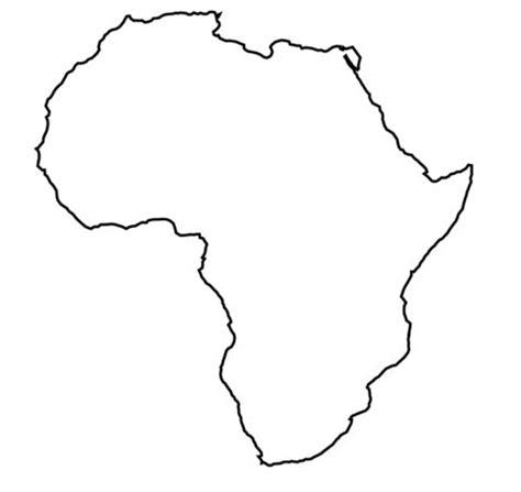 Blank Outline Of Africa by Africa Outline Map