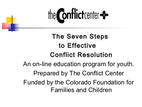 the card 7 steps to an educator s creative breakthrough books the seven steps to effective conflict resolution