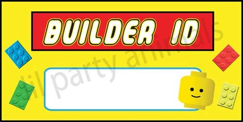 printable lego name tags 15 best images about lego theme on pinterest the