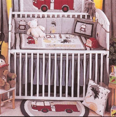 Fire Truck 6 Piece Crib Bedding Set Baby Crib Bedding Firetruck Crib Bedding