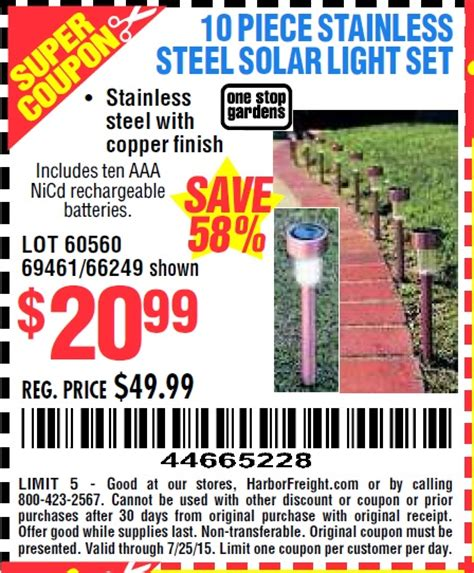harbor freight solar light harbor freight tools coupon database free coupons 25