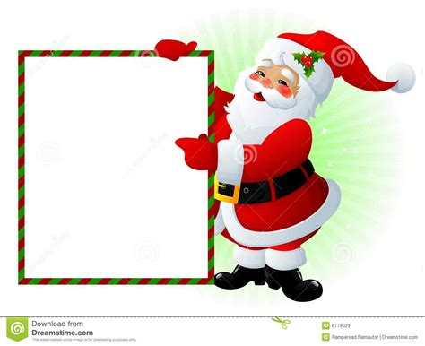 santa claus sign royalty free stock images image 6779029
