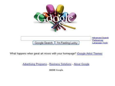 themes of google homepage igoogle artist themes livens up google home