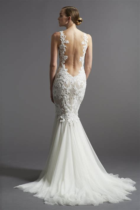 Wedding Dresses Lace Open Back
