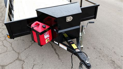Trailer Tongue Rack by Echo Trailers Large Tongue Box And Five Gallon Gas