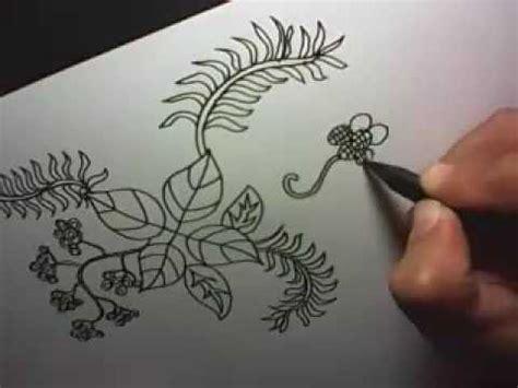 desain gambar flora tutorial membuat motif batik youtube