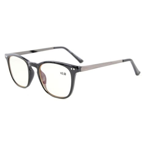 Retro Metal Square Glasses cgrj003 eyekepper readers retro square plastic frame metal