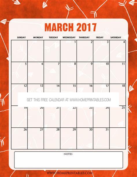 Free Printable March 2017 Calendar