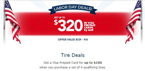discount tire labor day promotion     visa card