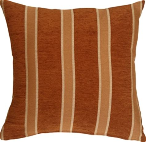 traditional stripes  rust  decorative pillow