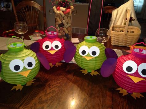 Paper Lantern Craft Ideas - diy owl paper lanterns diy crafting ideas