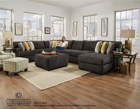 living room show pieces alton charcoal 3 sectional 29 charcoal sectional couches national mattress