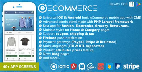 10 Best Ionic App Templates With Onesignal Integration Csform Ionic Ecommerce Template Free