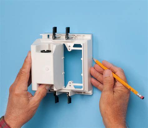 arlington tvbu  recessed tv box wall plate kit