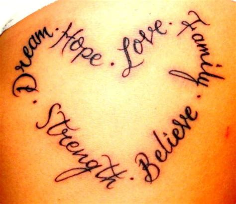 word believe tattoo designs inspirational word ideas pickers