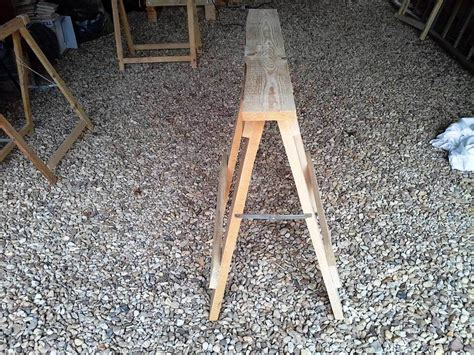 diy trestle table legs diy pallet trestle legs for tables 99 pallets