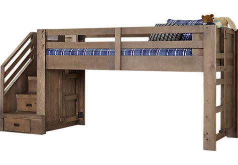 montana driftwood brownish gray twin step jr loft bed