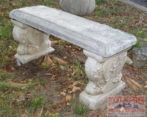 concrete bench ends concrete garden bench w decorated ends 16 quot x37 quot