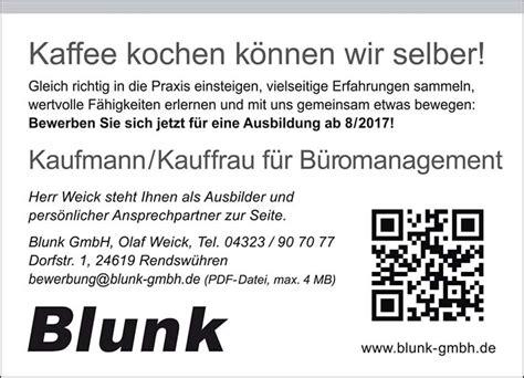 Praktikum Bewerbung Personalwesen Jetzt Bewerben Ausbildung 2017 Bei Blunk In Rendsw 252 Hren Blunk Das Unternehmen