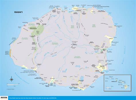 printable road map of hawaii printable travel maps of kaua i moon travel guides