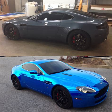 Aston Martin Blue Chrome Color Change
